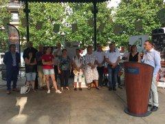 Mercado de Lourdes. Inauguracion discurso Pedro Salas Veintiocho Comunicación creativa